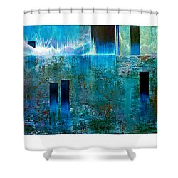Northern Lights Rising Shower Curtain