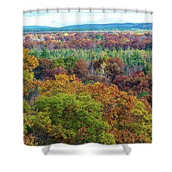 Northern Michigan Fall Shower Curtain