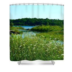 Northern Ontario 1 Shower Curtain by Claire Bull