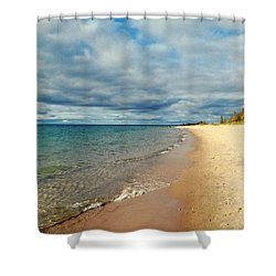 Shower Curtain featuring the photograph Northern Shore by Michelle Calkins