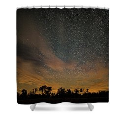 Northern Sky At Night Shower Curtain