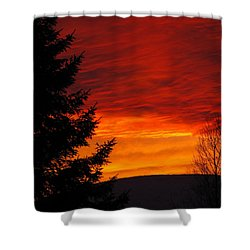 Northern Sunset 2 Shower Curtain