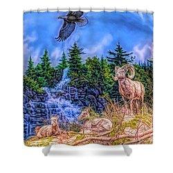 Northern Wilderness Shower Curtain