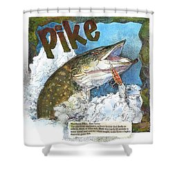 Northerrn Pike Shower Curtain