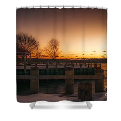 Northport Sunset Shower Curtain