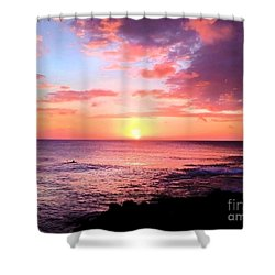 Northshore Sunset Shower Curtain