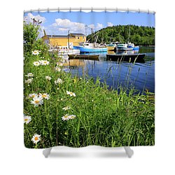 Northwest Harbour, Nova Scotia Shower Curtain
