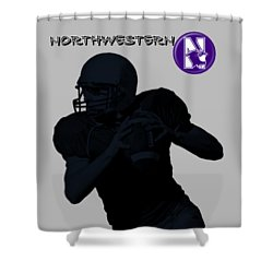 Northwestern Football Shower Curtain