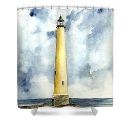 Northwood Lighthouse Shower Curtain by Michael Vigliotti