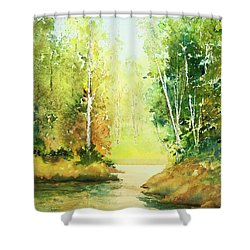 Northwoods Scene Shower Curtain