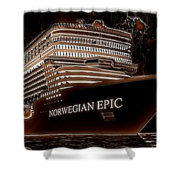 Shower Curtain featuring the photograph Norwegian Epic by Mario Carini