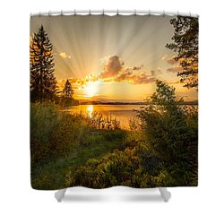 Norwegian Landscape Shower Curtain by Rose-Maries Pictures