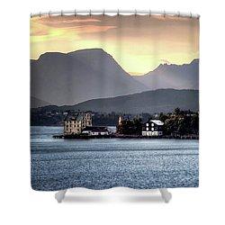 Norwegian Sunrise Shower Curtain