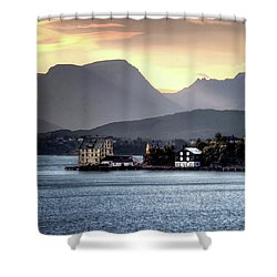 Norwegian Sunrise Shower Curtain