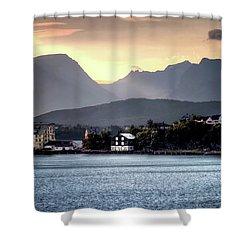 Norwegian Sunrise Shower Curtain by Jim Hill