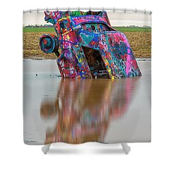 Shower Curtain featuring the photograph Nose Dive by Stephen Stookey