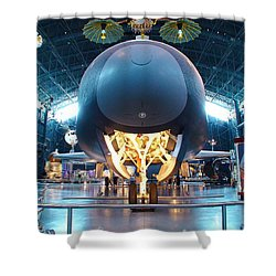 Nose Down - Enterprise Shower Curtain