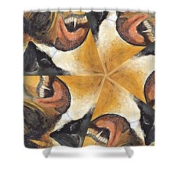 Shower Curtain featuring the photograph Nose Tongue And Teeth by Peter J Sucy
