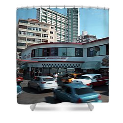 Nostalgia In Motion Shower Curtain