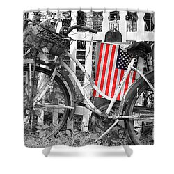 Nostalgic Collection-b And W Shower Curtain
