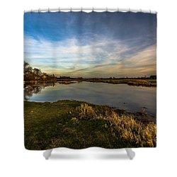 Nostalgic Landscape With Narew River  Shower Curtain