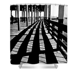 Nostalgic Walk On The Pier Shower Curtain