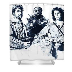 Nostromo Crew Shower Curtain
