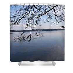 Shower Curtain featuring the digital art Not A Ripple by Barbara S Nickerson