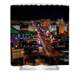 Not Everything Stays In Vegas - Tiltshift Shower Curtain