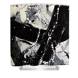 Not Just Black And White3 Shower Curtain