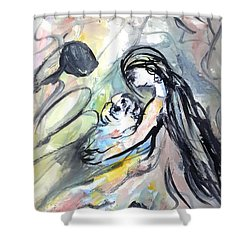 Not Leave Your Family  Shower Curtain