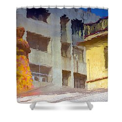 Shower Curtain featuring the photograph Not Sure by Prakash Ghai