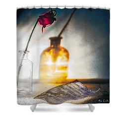 Notes Forgotten Shower Curtain by Bob Orsillo