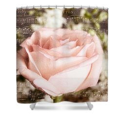 Shower Curtain featuring the photograph Notes Of Love by Joan Bertucci