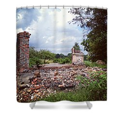 Nothing But Rubble Shower Curtain