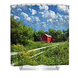 Noticing The Days Hurrying By Shower Curtain by Phil Koch