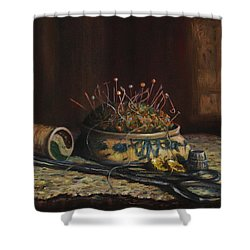 Notions Shower Curtain by Dorothy Allston Rogers