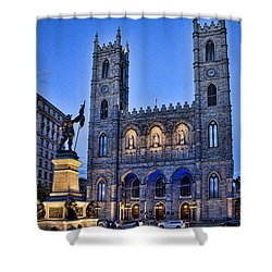 Notre Dame Basilica In Montreal As Dusk Photograph By David Smith