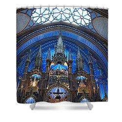Notre Dame Basilica Shower Curtain by John Schneider