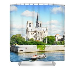 Notre Dame Cathedral, Paris France Shower Curtain by Anastasy Yarmolovich