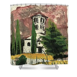 Shower Curtain featuring the painting Notre Dame D'aubune by Martin Stankewitz