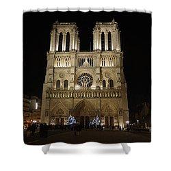 Notre Dame De Paris Shower Curtain by Erik Tanghe