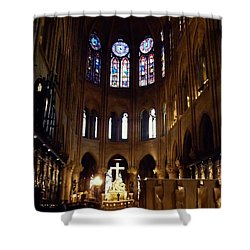 Notre Dame De Paris Shower Curtain by Takaaki Yoshikawa