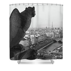 Notre Dame Gargoyle Shower Curtain by Victoria Lakes
