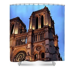 Notre Dame Gothic Style Shower Curtain by John Rizzuto