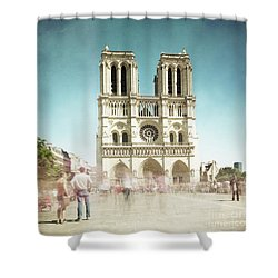 Shower Curtain featuring the photograph Notre Dame by Hannes Cmarits