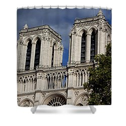 Shower Curtain featuring the photograph Notre Dame by Ivete Basso Photography