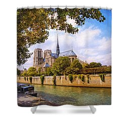 Shower Curtain featuring the photograph Notre Dame by John Rivera
