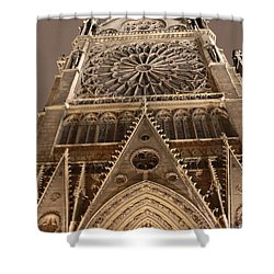 Shower Curtain featuring the photograph Notre Dame North by Christopher Kirby