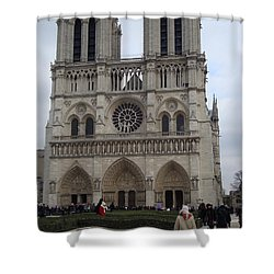 Notre Dame Shower Curtain by Roxy Rich